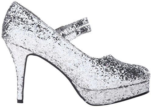 Ellie Shoes Women's 421-Jane-G Maryjane Pump Silver Glitter Y756cpb108