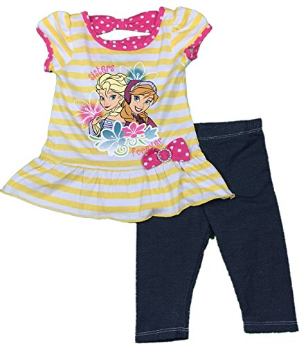 Despicable Me Disney Toddler Frozen Girls Sisters Forever Striped Legging Set, 2t-4t - Despicable Outfit Me