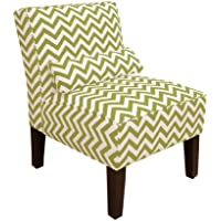 Skyline Furniture Armless Chair in Zig Zag Chartreuse