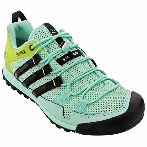 adidas outdoor Women's Terrex Solo Ice Green/Black/Vapour Steel Sneaker 5.5 B (M)