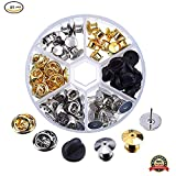 Pincushions - 65Pcs 3 Styles Clutch Pin Backs with 20pcs Tie Tacks Blank Pins Locking Pin Keepers Backs Brass Butterfly Clutch Badge Insignia