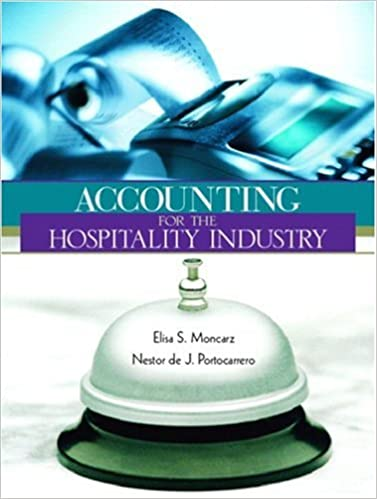 Accounting For Hospitality Industry Elisa S Moncarz