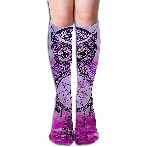 スペア馬鹿泥フクロウドリームキャッチャー 3D印刷デザイン 女性の男性 秋と春 フリースタイルのデザインソックス ファッションかわいい 弾性 薄型 靴下 高校生 ティーンエージャー フォーシーズンズ