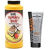 NO SWEAT BUNDLE!! Anti-Monkey Butt Powder (6oz) - AND - Happy Junk Lotion The Solution for Wet (NEW 5 OZ tube)