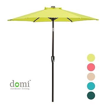 Patio Umbrella, 7u0027 Outdoor Table Market Umbrella With Push Button  Tilt/Crank,