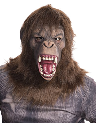 Caesar Deluxe Costumes (Rubie's Costume Men's Dawn Of The Planet Of The Apes Adult Deluxe Caesar Mask, Multi, One Size)