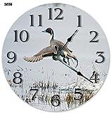 10.5' NORTHERN PINTAIL BIRD CLOCK - Large 10.5' Wall Clock - Home Décor Clock