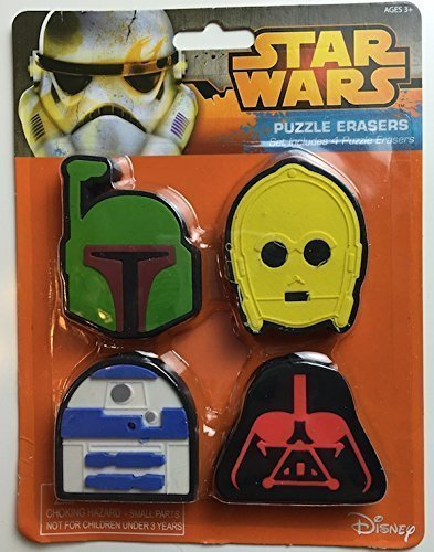 Star Wars Puzzle Erasers Set Includes 4 Puzzle Erasers by Lucas Films