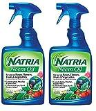 Bayer Advanced 706250A NATRIA Ready-to-Use Neem Oil Pest Control, 24-Ounce (2)