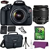 Canon EOS Rebel T5 DSLR Camera with Canon EF-S 18-55mm IS Lens. + 16GB SD Memory Card + Canon Bag + Cleaning Kit