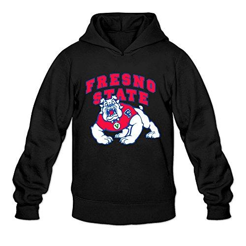 AK79 Men's Hoodie Fresno State Bulldogs Football Size L Black