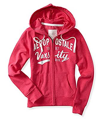 Amazon.com: Aeropostale Womens Zip Hoodie Sweatshirt X ...