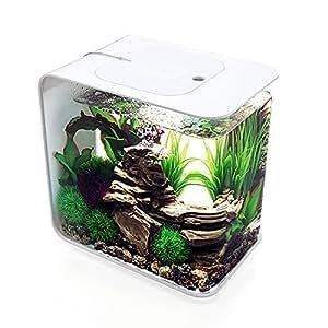 biOrb Flow 15 Aquarium with LED Light - 4 Gallon, Black, White