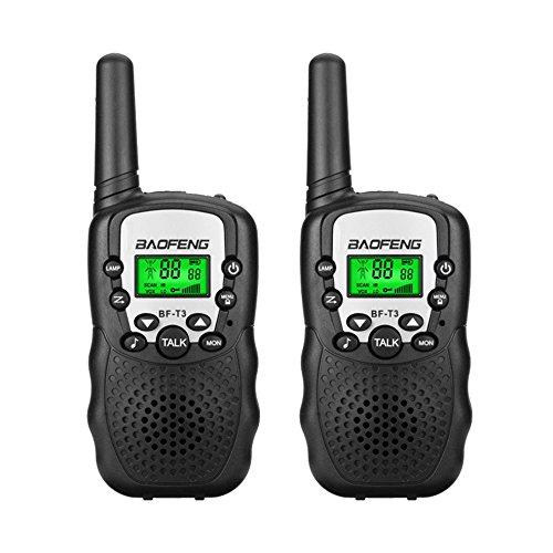 2Pcs BF T3 Mini Talkie Walkie Enfants En Plein Air Interphones Transceivers Portable