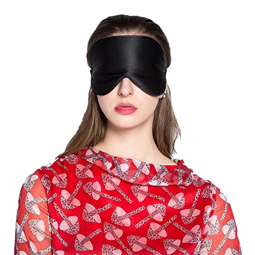 Adbama Silk Sleep Mask with Adjustable Strap - Black