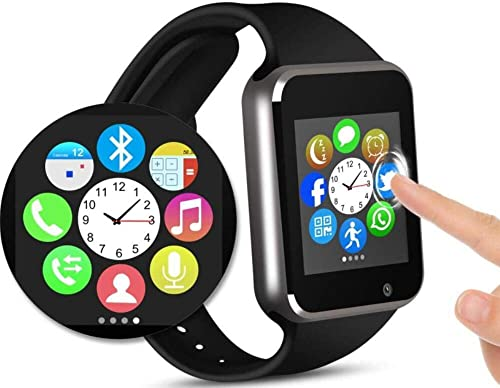 Smart Watch – Fitness Tracker Watch Touchscreen Bluetooth Smartwatch Wrist Watch with Camera Pedometer SIM TF Card Slot