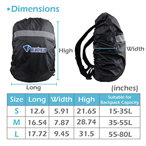 TRIWONDER Waterproof Storage Backpack Rain Cover Pack Cover for Hiking Camping Traveling