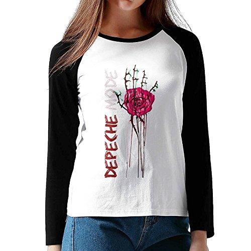 Women Raglan Long Sleeve Depeche Mode Violator Album Funny Shirts ()