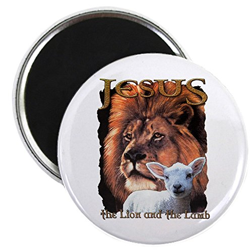 2.25 Inch Magnet Jesus The Lion And The -