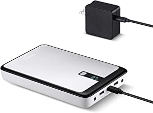 Miady 60W 111Wh/30000mAh Laptop Power Bank/w 45W PD Adapter, USB C Power Delivery External Battery Charger, 2 USB Ports/w DC Output for Dell, HP, Lenovo, Sony, Samsung, Acer and More