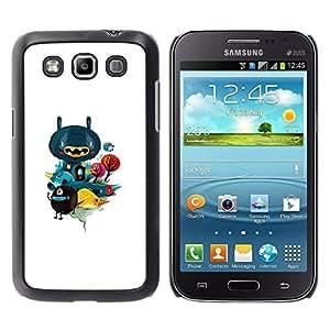 KLONGSHOP // Cubierta de piel con cierre a presión Shell trasero duro de goma Protección Caso - Resumen Forrest - Samsung Galaxy Win I8550 //