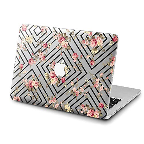 Lex Altern MacBook Pro 15 inch Square Hard Case Floral 2018 A1989 A1707 Model Air 13 2017 Geometric Flower Mac Glossy Retina 12 Rose Cover 11 Apple Clear 2016 Vintage Protective Women Print Rectangle -