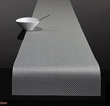 Chilewich Basketweave Table Runner Ice