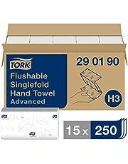 Tork 290190 - Juego de 15 paquetes x 250 toallas de papel plegadas en V, 2 capas, 23 x 23 cm, color blanco