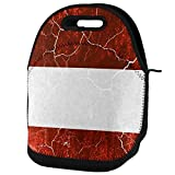 Best Old Glory Grunge Apparel Items - Austrian Flag Distressed Grunge Lunch Tote Bag Multi Review