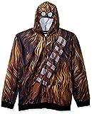 Star Wars Men's Chewbacca Character Zip Front Hoodie, Brown, XX-Large