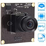 2MP USB Camera Module USB 3.0 Webcam with 100 Degree No Distortion Industrial Camera Module Supported OTG,1080P Camera with Low Illumination for Android Windows Linux Mac USB Webcam Mini Camere Module