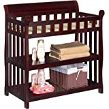 Dark Wood Crib with Changing Table Delta Children's Products Eclipse Changing Table,Espresso