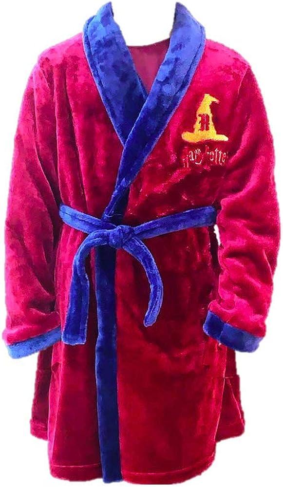 Boys Girls Unisex Nightwear Harry Potter Hogwarts Dressing Gown Childrens Kids Dressing Gown Warm Snug Soft Fleece Fluffy Robe Soft Touch Bathrobe |