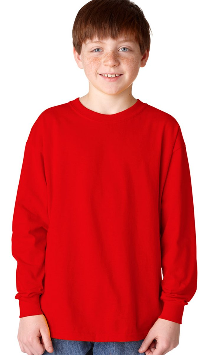 Gildan Kids' Ultra Cotton Youth Long Sleeve T-Shirt, 2-Pack G540B