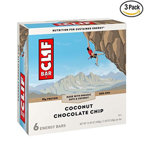 CLIF BAR - Energy Bar - Coconut Chocolate Chip - 2.4 Ounce Protein Bar, 18 - Bar Clif Chocolate Chip Coconut
