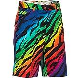 zebra beer bottle opener - Royal & Awesome Wild Ones Patterned Mens Golf Shorts, 44
