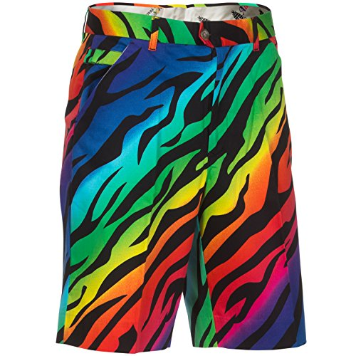(Royal & Awesome Wild Ones Patterned Mens Golf Shorts)