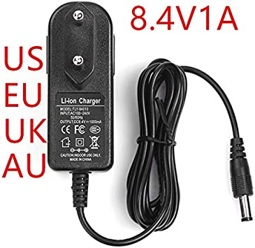 HONGPOE 8.4V1A Battery Charger Lithium-Ion Battery Charger 8.4V ...