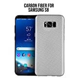 Samsung Galaxy S8 Case [Perfect Grip]- Carbon fiber [Advanced Shock-Absorption], [Anti-Fingerprint], Flexible, Slim, Anti-Scratch, Air Cushion Technology, Perfect fit for Samsung S8 [2017] SILVER