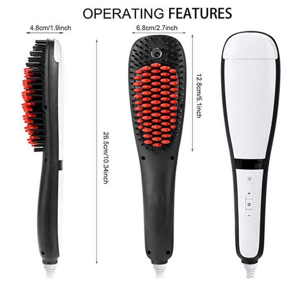 Hairbrushes JFW-3 En 1 Cepillo para Desenredar El Cepillo Alisador De Cabello Al Vapor con Pulverizador De Aniones Mist: Amazon.es: Deportes y aire libre