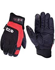 SKYDEER Armprotec Hi-Performance Synthetic Leather Mechanic WorkPRO Work Glove (Adjustable Fastener Closure)