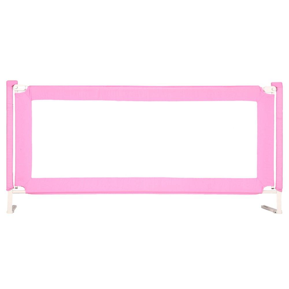 HAIYU ベッドガード- 安全ポータブルベッドガードレールベビーベビーフェンスサイドバッフル垂直リフトベッドサイドベゼルピンク 組み立てや折りたたみが簡単 (Color : Pink-84CM, Size : 2M) 2M Pink-84CM B07TH3V76V