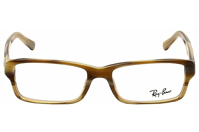 7d33784c0a3 RAY BAN RX 5169 Eyeglasses 5542 Brown Horn Transparent Beige 54-16-140   Amazon.co.uk  Clothing