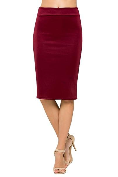 628ee7366b Junky Closet Women's High Waist Stretchy Office Pencil Skirt (Made in USA)  (1X