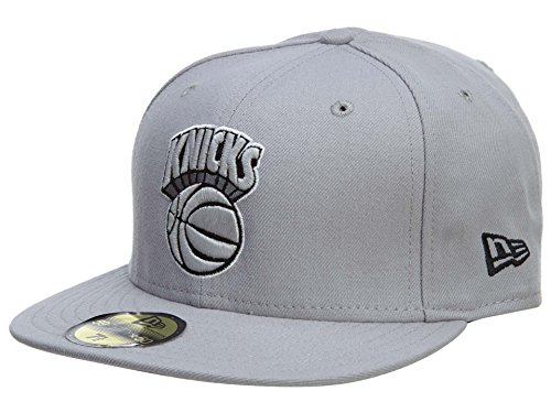New Era New York Knicks Fitted Hat Mens Style: HAT758-GREY Size: 7.625