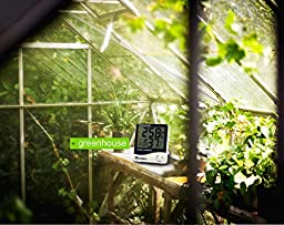 Homdox Digital Thermo Hygrometer Humidity Monitor Mini White
