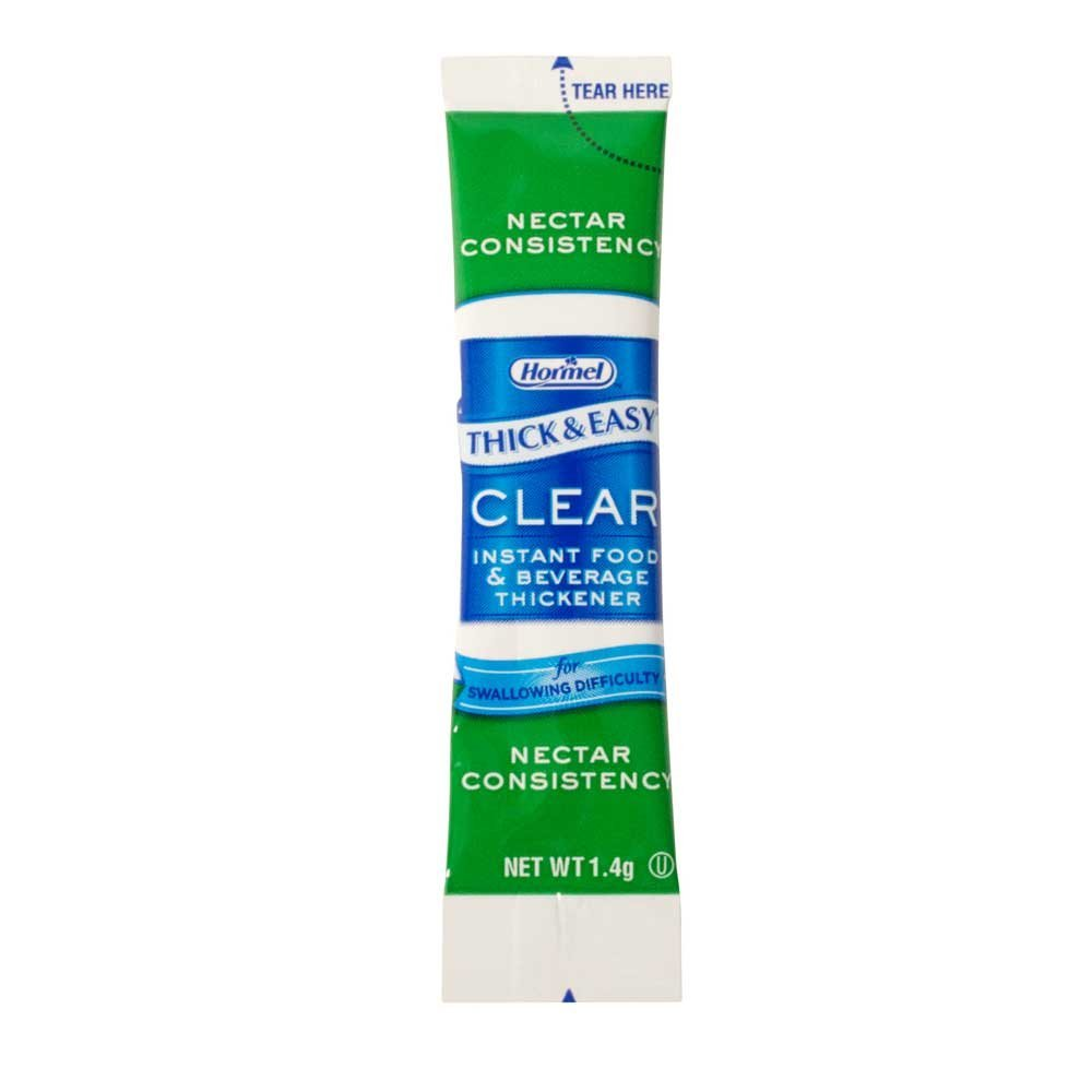 Thick and Easy Clear Nectar Consistency Instant Food and Beverage Thickener Sticks, 1.4 Gram -- 100 per case.