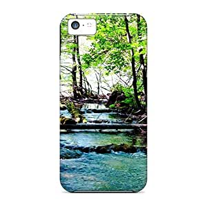 linJUN FENGiphone 5/5s Cases Covers - Slim Fit Protector Shock Absorbent Cases (wild River)