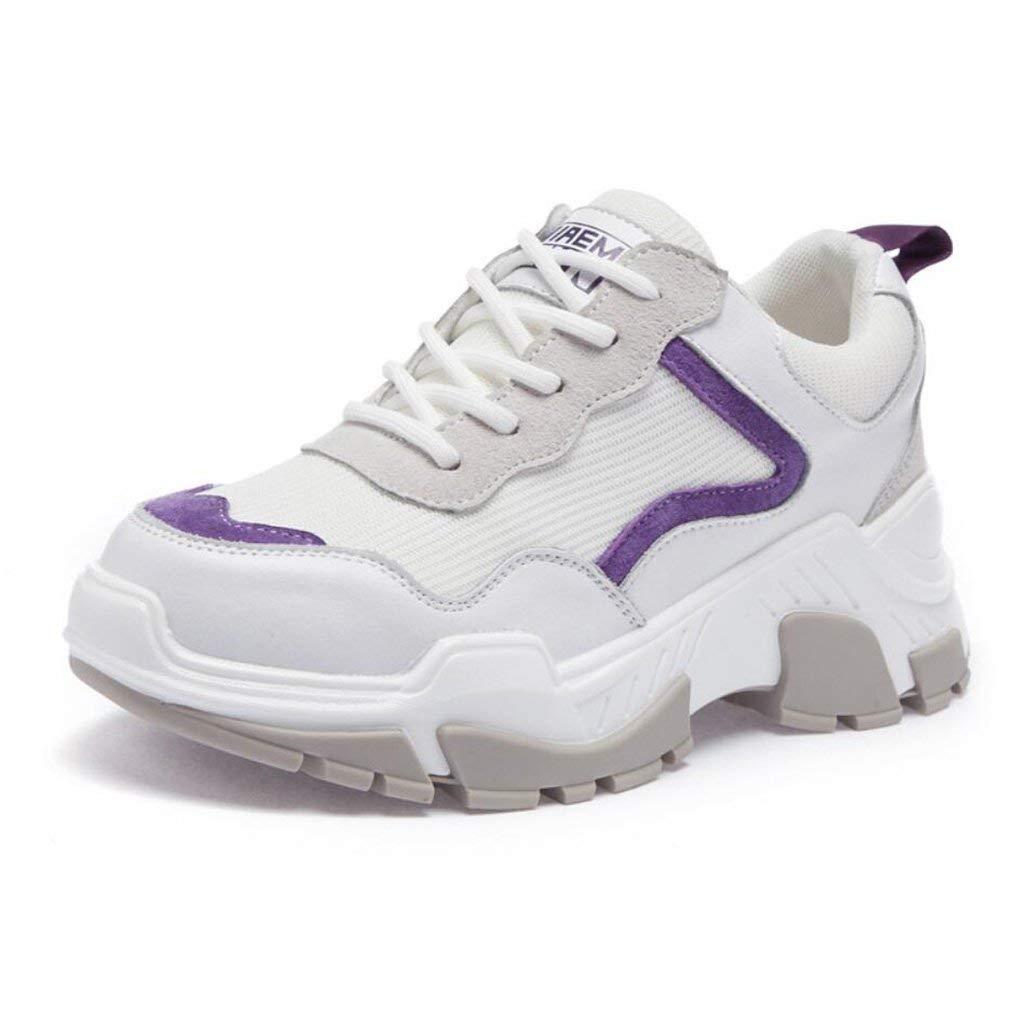 Sportschuhe der Frauen Laufende Turnschuhe zufällige Sportschuhe des Leders mit Laufenden Studenten-Schuhen Koreanische Version der Gezeiten (Farbe   Ein Größe   39) ( Farbe   C  Größe   EU 40 )