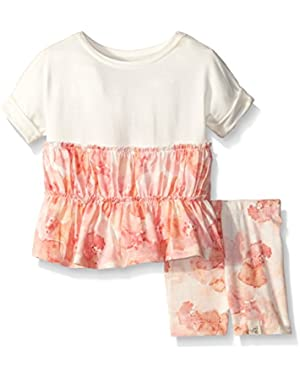 Girls' Organic Poppy Floral Tunic and Short